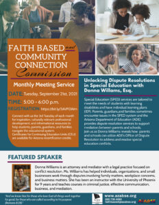 Faith Based & Community Support Commission Monthly Meeting